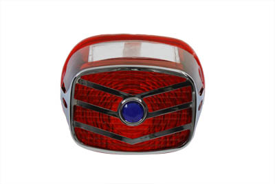 *UPDATE Lens Grill with Blue Dot V Style Chrome