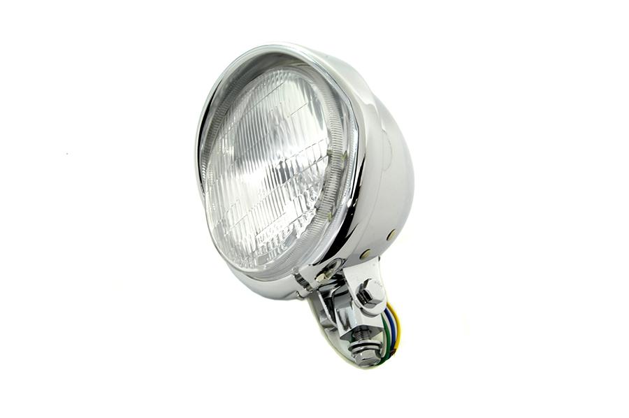 "5-3/4"" Round Headlamp with Visor"