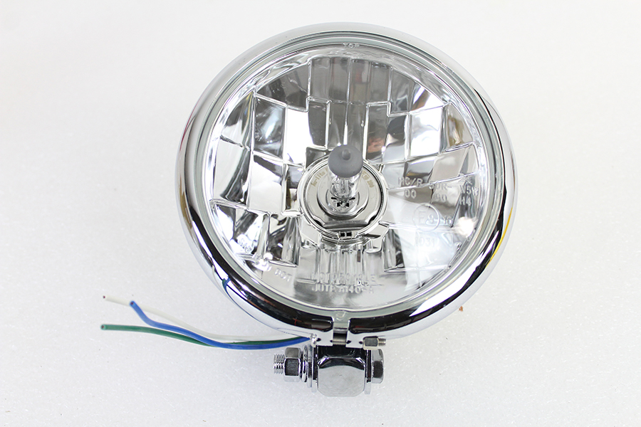 "5-3/4"" Round Headlamp Faceted Style"