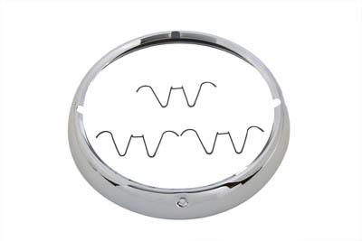 Outer Headlamp Trim Rim Chrome