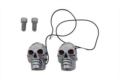 """2"""" Chrome Skull Marker Lamp"""