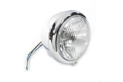 """5-3/4"""" Round Headlamp Assembly Tear Drop Style"""