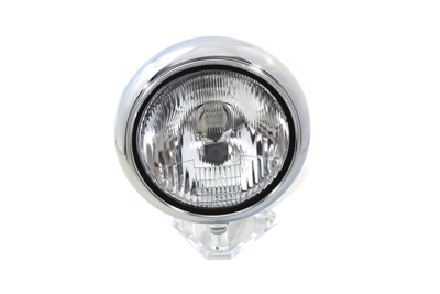 "7"" Headlamp Assembly H-4 Type Chrome"