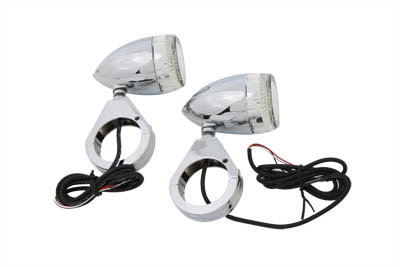 Bullet Turn Signal Set with 49mm Clamps