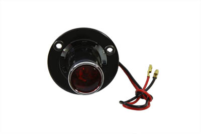 "Black 1"" Round Tail Lamp"