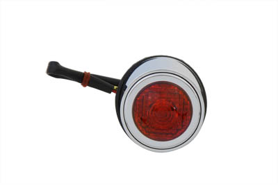 Tear Drop Style Tail Lamp with Red Lens