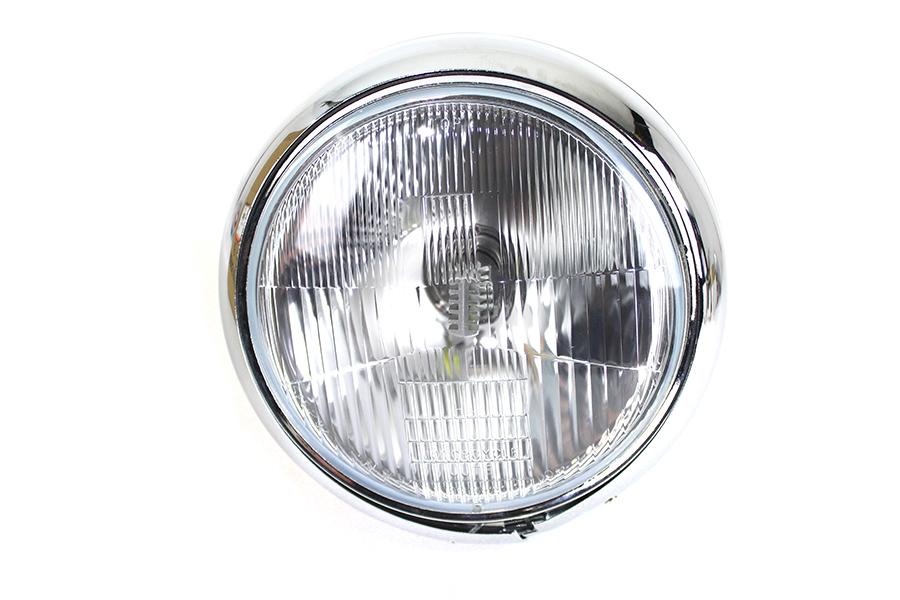 """7"""" 6 Volt LED Glide Headlamp Chrome"""