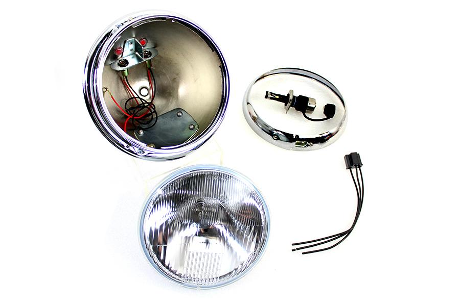"""7"""" 12 Volt LED Glide Headlamp Chrome"""