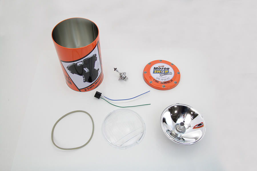Retro Spring Fork Headlamp H-4 Bulb Kit