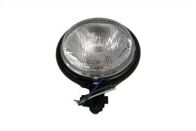 "5-3/4"" Black Round Headlamp"