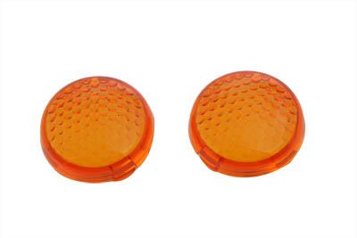 Turn Signal Lens Set Torpedo Style Amber