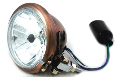 "4-1/2"" Round Headlamp Copper"