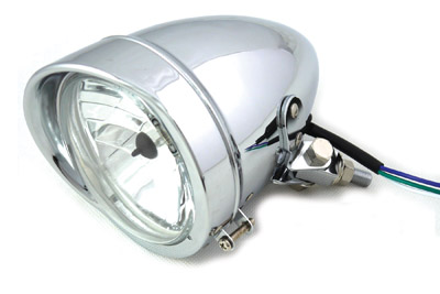 "4-1/2"" Bullet Headlamp Chrome"