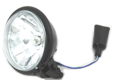 "5-3/4"" Round Headlamp Black"