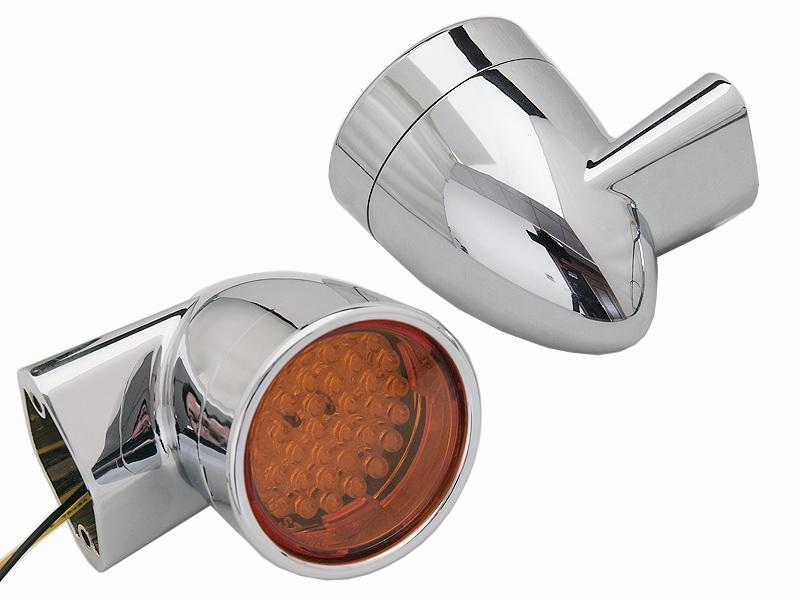 Chrome Revox Bullet Style LED Rear Turn Signal Set
