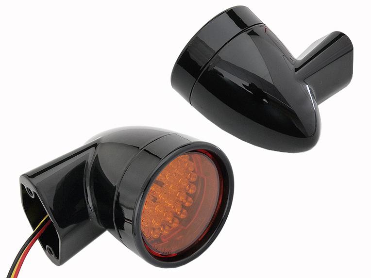 Black Revox Bullet Style LED Front Turn Signal Set