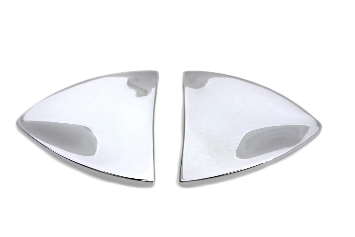 Chrome Mirror Block Off Plate Set
