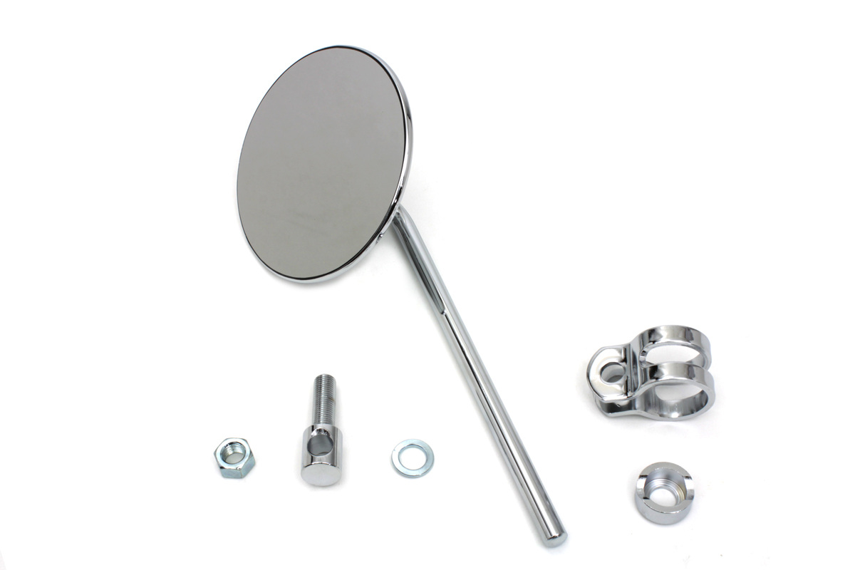 Replica Round Mirror with Round Stem Chrome