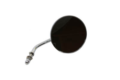 Round Flame Mirror Chrome
