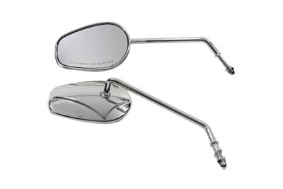 Rectangle Mirror Set with Round Long Stems