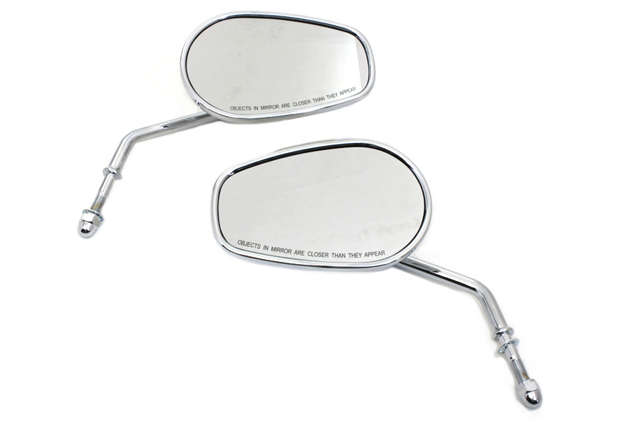 Chrome Taper Convex Mirror Set