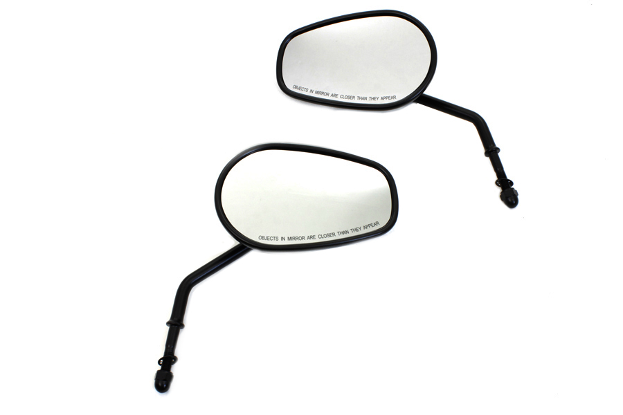 Black Taper Convex Mirror Set