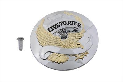 *UPDATE Eagle Spirit Round Air Cleaner Insert Gold Inlay