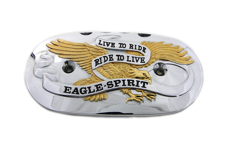 *UPDATE Eagle Spirit Oval Air Cleaner Insert Gold Inlay