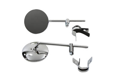 Round Mirror Set Chrome