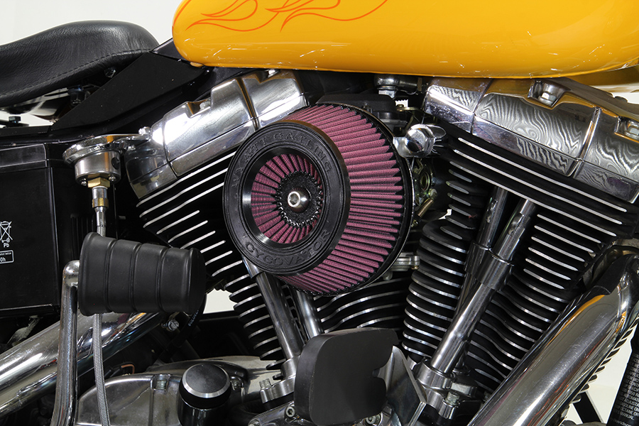 Wyatt Gatling Air Cleaner Chrome Billet,for Harley Davidson,by V-Twin