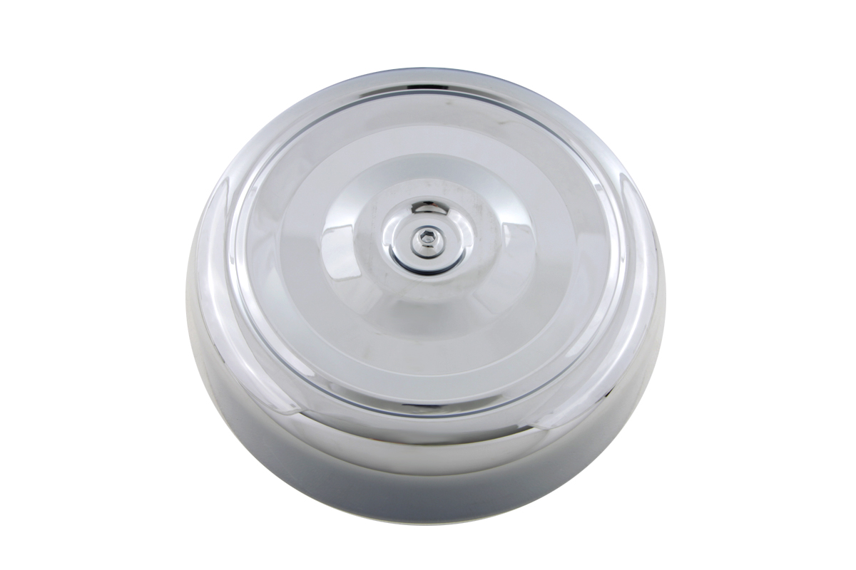 "Chrome Round Bobbed Style 7"" Air Cleaner Cover"