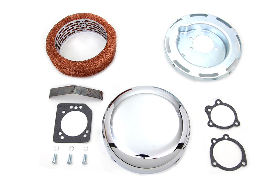 "7"" Round Air Cleaner Assembly Chrome"