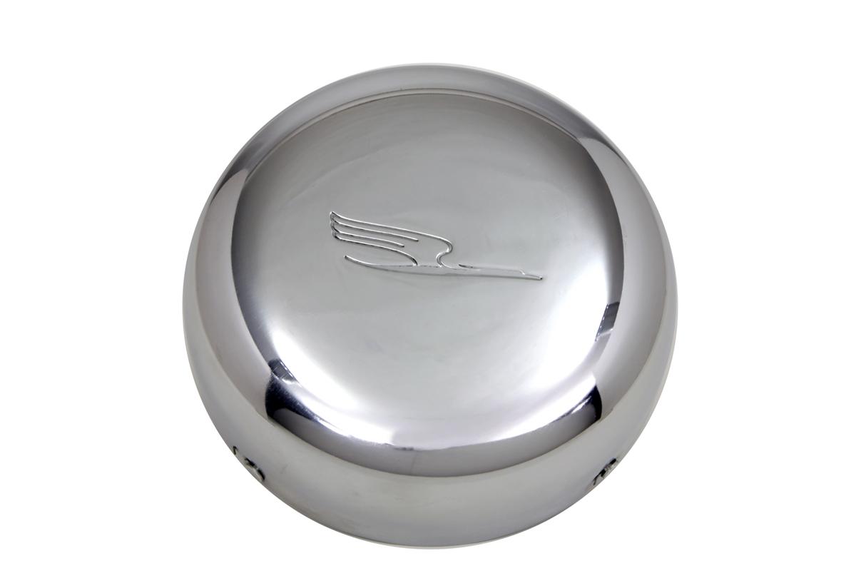 """7"""" Linkert Bird J-Slot Style Air Cleaner Assembly Chrome"""