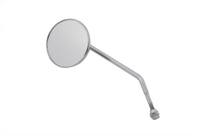 Round Mirror Chrome with Round Stem