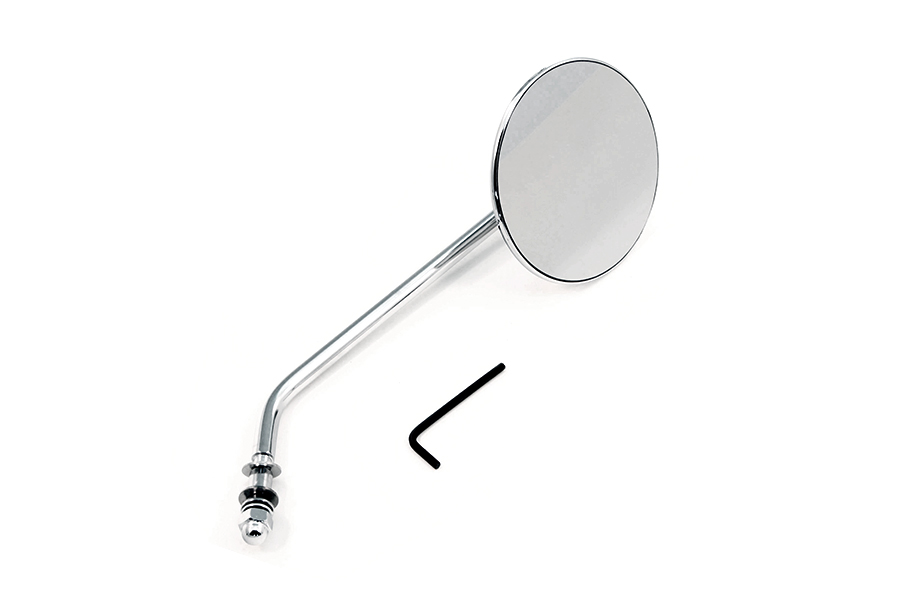 Round Mirror Stainless Steel with Round Stem