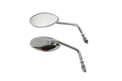 Tear Drop Mirror Set Chrome