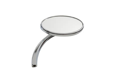 Oval Mirror with Billet Stem