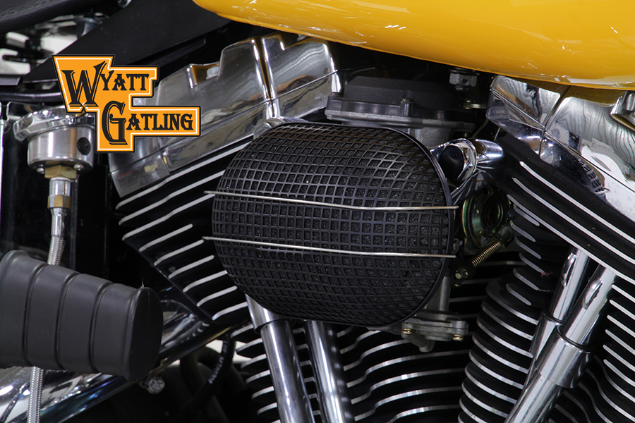 Black Wyatt Gatling Air Cleaner Assembly
