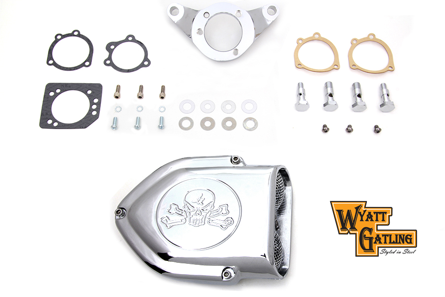 *UPDATE Chrome Wyatt Gatling Air Cleaner Assembly