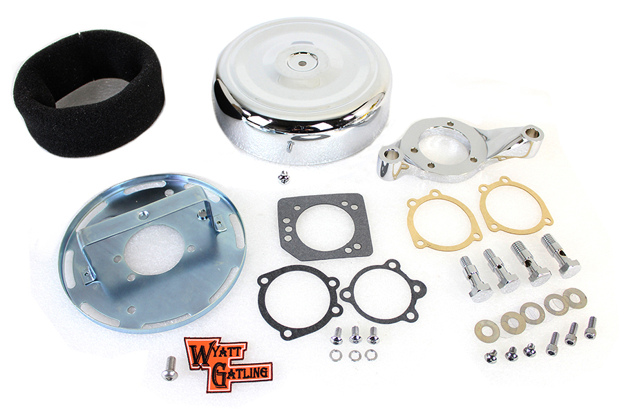 "8"" Round Air Cleaner Assembly Chrome"