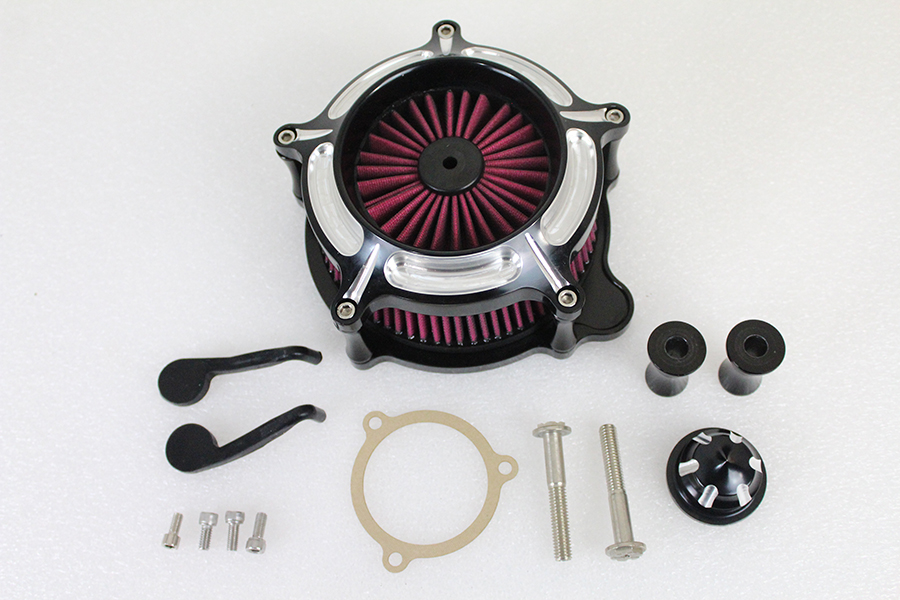 Exposed Filter Air Cleaner Kit Black