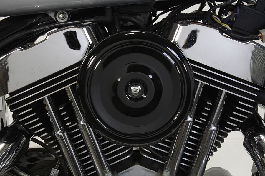 Black Wyatt Gatling Air Cleaner Assembly For Harley