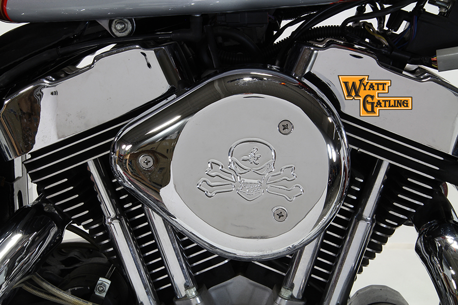 Chrome Wyatt Gatling Air Cleaner Assembly