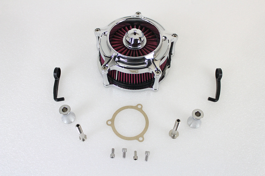 Exposed Filter Air Cleaner Kit Chrome