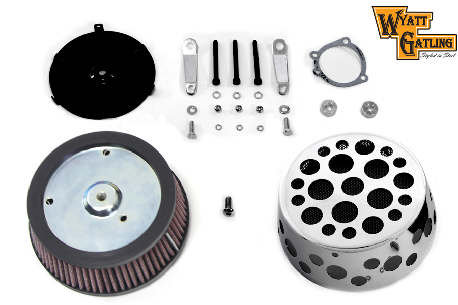 Swiss Cheese Air Cleaner Kit Chrome