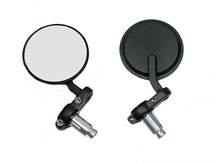 Cafe Style Mirror Set Black