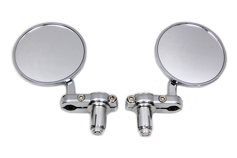 Cafe Style Mirror Set Chrome