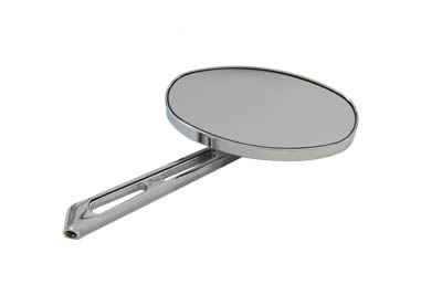Flat Oval Mirror with Billet Stem