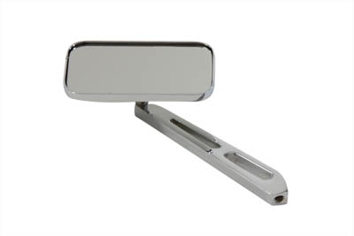 Rectangular Mirror Chrome with Billet Stem