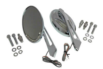 Chrome Billet Mirror Set